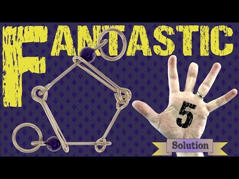 Solution for Fantastic Five from Puzzle Master Wire Puzzles