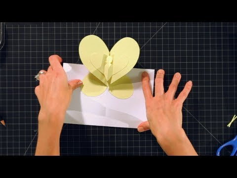 How To Make A Butterfly Pop Up Card Pop Up Cards Youtube