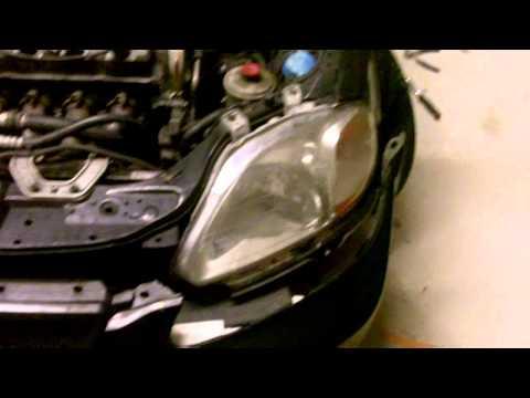 Снятие и замена переднего бампера Honda Civic. Видео.