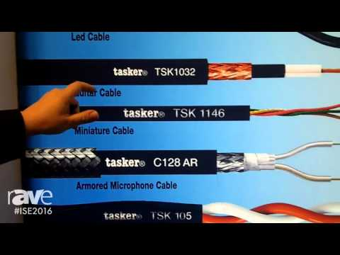 ISE 2016: Tasker Details Audio Komby Cables and Armored Microphone Cables
