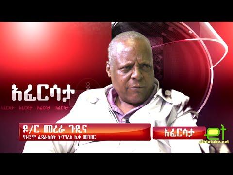 Ethiopia አፈርሳታ - Oromo Federalist Congress Chairman Dr. Merera Gudina August 2016