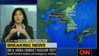 Breaking News North Korea Defies Satans Nwo And Detonates Nuclear Weapon Underground May 24 2009