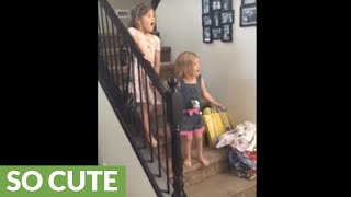 Little girl brought to instant tears with new puppy surprise