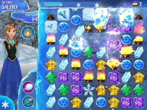 Frozen Free Fall Level 212 Live Action Play Walkthrough