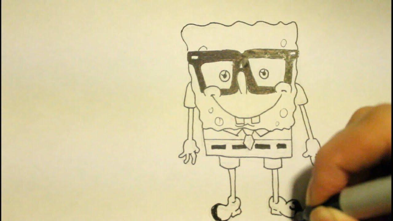 how to draw spongebob step by step