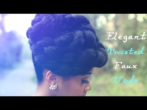 Faux Updo Protective Hairstyle Hair Tutorial on Natural Hair