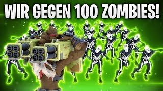 WIR GEGEN 100 ZOMBIES! CUSTOM GAMES! 🧟 | Fortnite: Battle Royale
