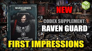 Codex Supplement Raven Guard First impressions and Review