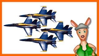 JET PLANES: Plane videos for kids. Kids Videos. Preschool & Kindergarten learning.