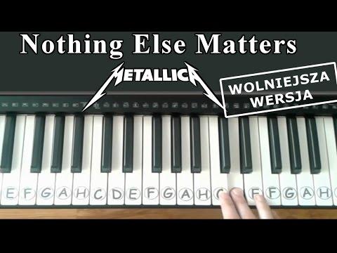 Keyboard / Pianino - Nothing Else Matters - Metallica - Wolniejsza Wersja.