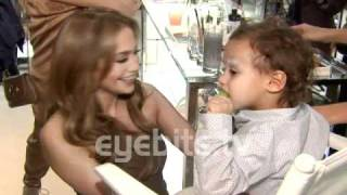 Jennifer Lopez and kids at Gucci