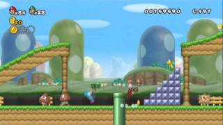 New Super Mario bros Wii 2 The Next levels - Playthrough Part 1