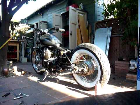 1985 Honda Rebel bobber: Rocky theRebel with cocktail shaker mufflers Video