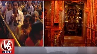 Devotees Throng At Banjara Hills Peddamma Temple On Eve Of Dussehra Festival