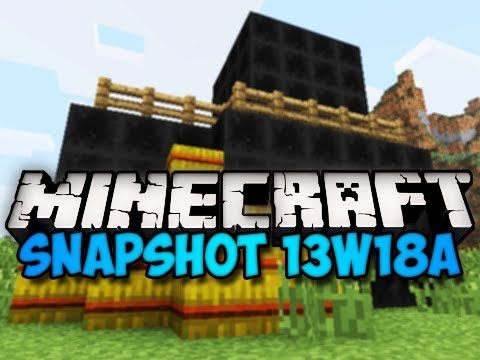 Minecraft Snapshot 13w18a - COAL BLOCKS, HAY RECIPE, & MORE! (HD)