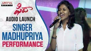 Singer Madhu Priya Vachinde Song Performance At Fidaa Audio Launch   Varun Tej, Sai Pallavi