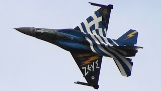 RIAT 2015 Greek Air Force ZEUS F-16 Demo Hellenic Air Force