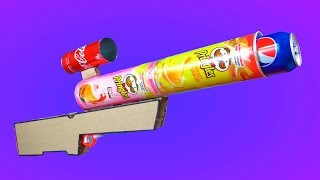 How to Make a Cardboard Sniper Rifle That Shoots Soda Cans