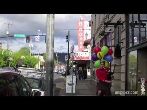 Happy Birthday from The Unipiper to George Takei (4/20/13) on Bagpipes and Unicycle!!