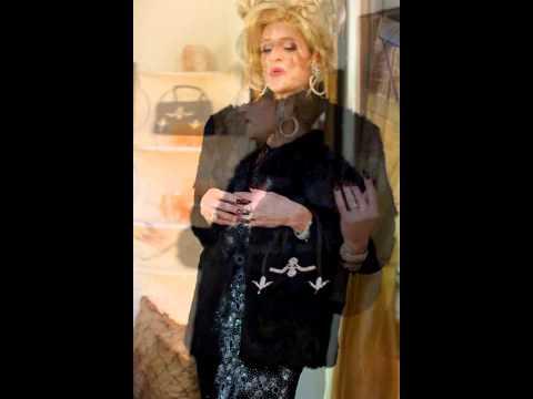 Tyler Lord Hamilton (as Athena Vargo) in French Black Rabbit Fur from Monte Carlo/Spélugues, Monaco