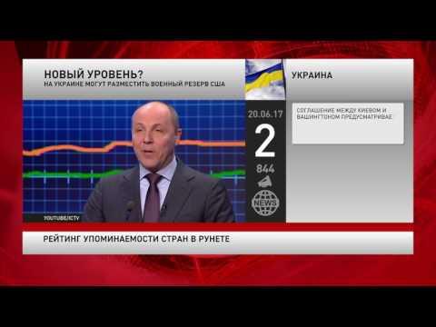 Рейтинг упоминаемости стран в русскоязычном интернете за 20 июня