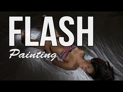 Flash painting for glamour photography - hot one light setup