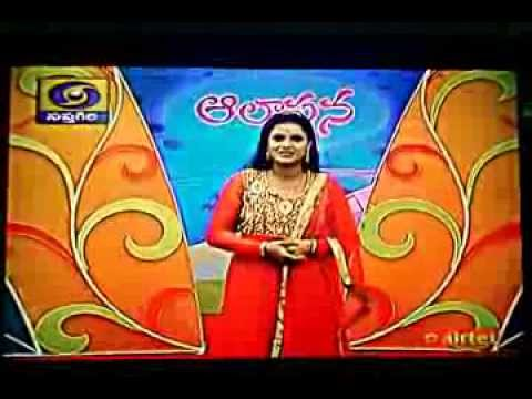 Spandana Puppala singing in Doordarshan Saptagiri - Aalapana...