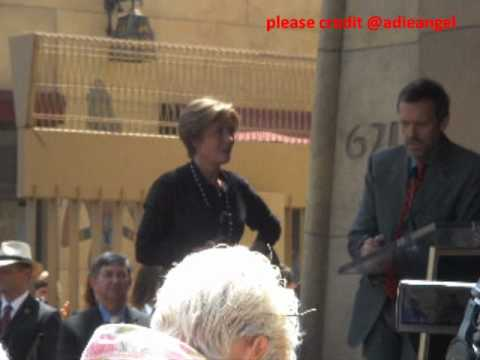 Hugh Laurie's speech at Emma Thompson's Walk of Fame Event Video