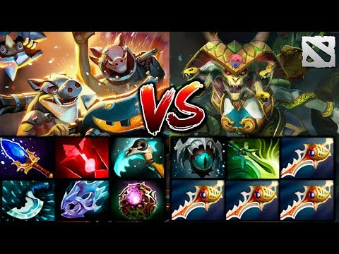 LONG BRUTAL GAME with Rapiers and Mines Dota 2