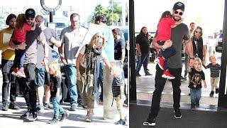 Chris Hemsworth And Beautiful Wife Elsa Pataky Take Flight With The Kids