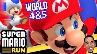 SUPER MARIO RUN!!! Walkthrough Gameplay Babyyyy (World 4 & 5)