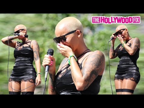 Amber Rose Breaks Down Crying Over Wiz Khalifa & Kanye West At Slut Walk 10.3.15