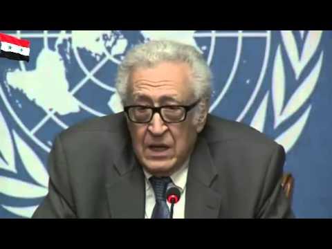Syrie La Conférence de presse à Genève Mr Lakhdar Brahimi 25 \ 01 \ 2014