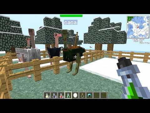como domesticar avestruces en minecraft con mo creatures