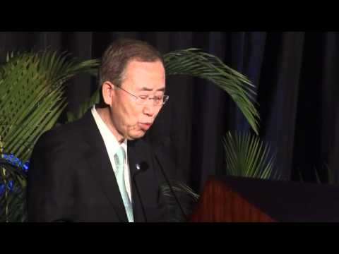 Ban Ki-moon - Avoided Deforestation Partners REDD+ event, 2011