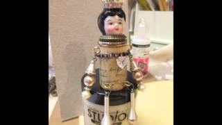 Altered Cork Doll, SOLD - jennings644