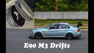 Kid drifting Dad's V8 BMW M3 track car(E90 M3 Drift)