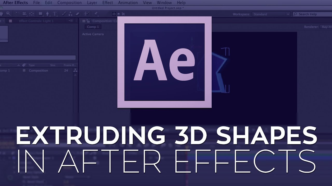 3d extruder for after effects