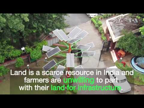 Indian 'Solar Tree' to Allow for Smaller Solar Parks