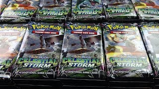 Opening Pokemon Cards - 1,000 Celestial Storm Pokemon Booster Packs!