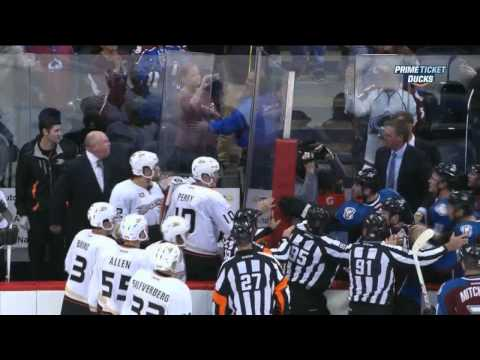 Patrick Roy vs Bruce Boudreau end of game Anaheim Ducks vs Colorado Avalanche 10/2/13 NHL Hockey
