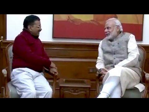 Arvind Kejriwal, Delhi chief minister-designate, meets PM Modi