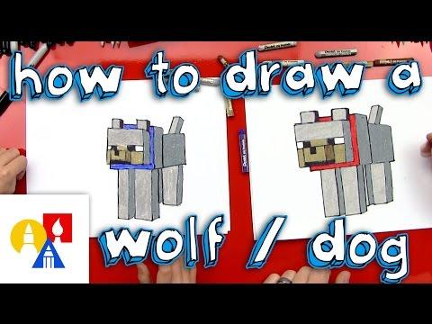 How To Draw A Minecraft Wolf (dog)