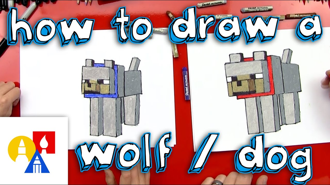 Sitting Wolf Drawings How to Draw a Minecraft Wolf