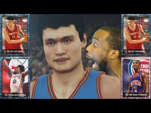7'6 MONSTER! YAO MING! 99 Julius Erving DEBUT! NBA 2k15 MyTeam Gameplay! Pink Diamond Isiah Thomas!