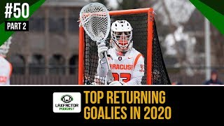 Top Returning Goalies In 2020 NCAA Lacrosse (LaxFactor Lacrosse Podcast #50, Part 2)
