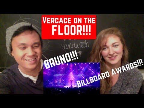 Bruno Mars - Versace on the Floor [Billboard Music Awards 2017] REACTION