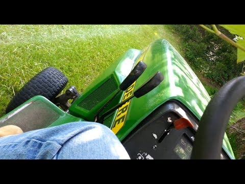Mowing with My Uncle's John Deere 318