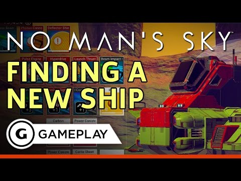 No Man's Sky - Finding and Repairing a New Ship Gameplay