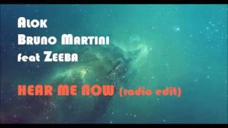 Ouça ALOK BRUNO MARTINI feat ZEEBA - HEAR ME NOW radio edit